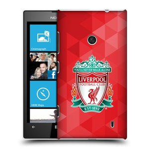 Plastové pouzdro na mobil Nokia Lumia 520 HEAD CASE ZNAK LIVERPOOL FC OFFICIAL GEOMETRIC RED