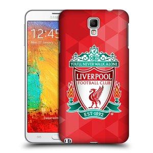 Plastové pouzdro na mobil Samsung Galaxy Note 3 Neo HEAD CASE ZNAK LIVERPOOL FC OFFICIAL GEOMETRIC RED