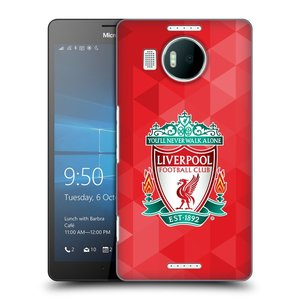 Plastové pouzdro na mobil Microsoft Lumia 950 XL HEAD CASE ZNAK LIVERPOOL FC OFFICIAL GEOMETRIC RED