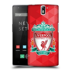 Plastové pouzdro na mobil OnePlus One HEAD CASE ZNAK LIVERPOOL FC OFFICIAL GEOMETRIC RED