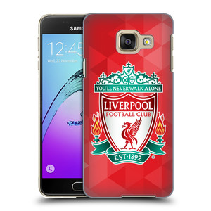 Plastové pouzdro na mobil Samsung Galaxy A3 (2016) HEAD CASE ZNAK LIVERPOOL FC OFFICIAL GEOMETRIC RED