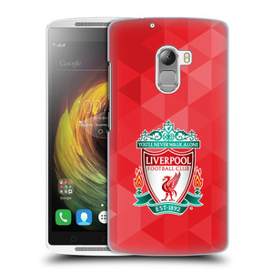 Plastové pouzdro na mobil Lenovo A7010 HEAD CASE ZNAK LIVERPOOL FC OFFICIAL GEOMETRIC RED