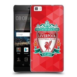 Plastové pouzdro na mobil Huawei P8 Lite HEAD CASE ZNAK LIVERPOOL FC OFFICIAL GEOMETRIC RED