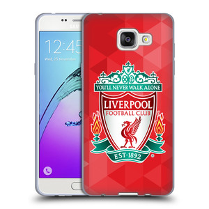 Silikonové pouzdro na mobil Samsung Galaxy A5 (2016) HEAD CASE ZNAK LIVERPOOL FC OFFICIAL GEOMETRIC RED