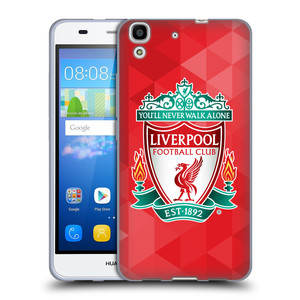 Silikonové pouzdro na mobil Huawei Y6 HEAD CASE ZNAK LIVERPOOL FC OFFICIAL GEOMETRIC RED