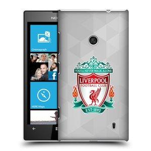 Plastové pouzdro na mobil Nokia Lumia 520 HEAD CASE ZNAK LIVERPOOL FC OFFICIAL GEOMETRIC WHITE