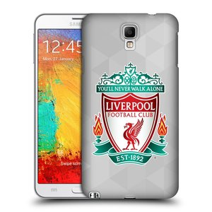 Plastové pouzdro na mobil Samsung Galaxy Note 3 Neo HEAD CASE ZNAK LIVERPOOL FC OFFICIAL GEOMETRIC WHITE