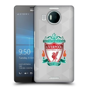 Plastové pouzdro na mobil Microsoft Lumia 950 XL HEAD CASE ZNAK LIVERPOOL FC OFFICIAL GEOMETRIC WHITE