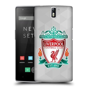 Plastové pouzdro na mobil OnePlus One HEAD CASE ZNAK LIVERPOOL FC OFFICIAL GEOMETRIC WHITE