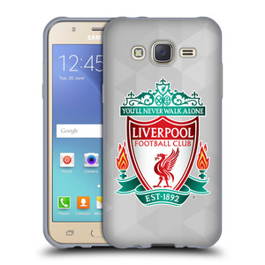 Silikonové pouzdro na mobil Samsung Galaxy J5 HEAD CASE ZNAK LIVERPOOL FC OFFICIAL GEOMETRIC WHITE