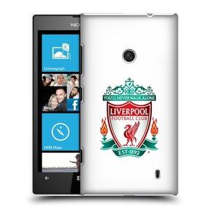 Plastové pouzdro na mobil Nokia Lumia 520 HEAD CASE ZNAK LIVERPOOL FC OFFICIAL WHITE