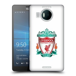Plastové pouzdro na mobil Microsoft Lumia 950 XL HEAD CASE ZNAK LIVERPOOL FC OFFICIAL WHITE