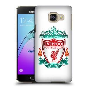 Plastové pouzdro na mobil Samsung Galaxy A3 (2016) HEAD CASE ZNAK LIVERPOOL FC OFFICIAL WHITE