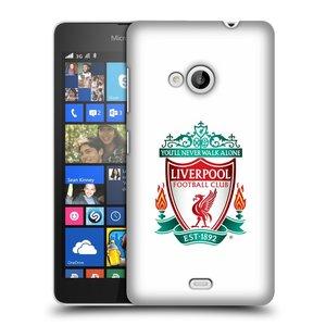 Plastové pouzdro na mobil Microsoft Lumia 535 HEAD CASE ZNAK LIVERPOOL FC OFFICIAL WHITE