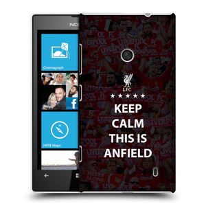 Plastové pouzdro na mobil Nokia Lumia 520 HEAD CASE Keep Calm This Is Anfield