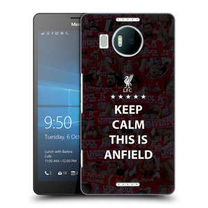 Plastové pouzdro na mobil Microsoft Lumia 950 XL HEAD CASE Keep Calm This Is Anfield