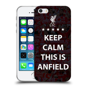 Silikonové pouzdro na mobil Apple iPhone SE, 5 a 5S HEAD CASE Keep Calm This Is Anfield