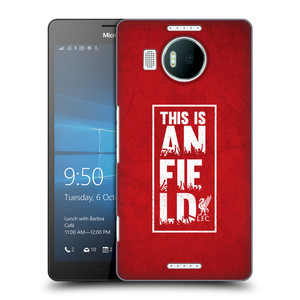 Plastové pouzdro na mobil Microsoft Lumia 950 XL HEAD CASE Liverpool FC This Is Anfield Red