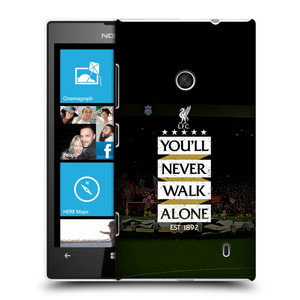 Plastové pouzdro na mobil Nokia Lumia 520 HEAD CASE LFC You'll Never Walk Alone