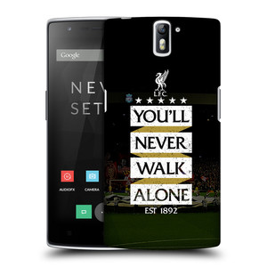 Plastové pouzdro na mobil OnePlus One HEAD CASE LFC You'll Never Walk Alone