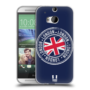 Silikonové pouzdro na mobil HTC ONE M8 HEAD CASE LONDON STAMP