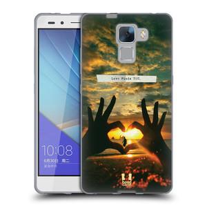 Silikonové pouzdro na mobil Honor 7 HEAD CASE LÁSKA SI TĚ NAJDE