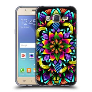 Silikonové pouzdro na mobil Samsung Galaxy J5 HEAD CASE Květina mandala