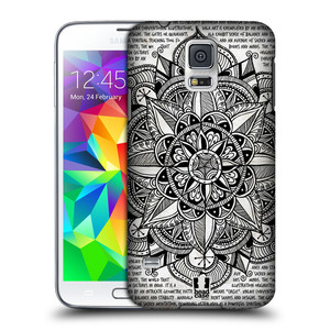 Plastové pouzdro na mobil Samsung Galaxy S5 HEAD CASE Mandala Doodle Paper