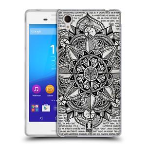Silikonové pouzdro na mobil Sony Xperia M4 Aqua E2303 HEAD CASE Mandala Doodle Paper