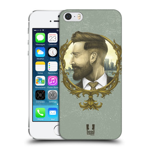 Plastové pouzdro na mobil Apple iPhone SE, 5 a 5S HEAD CASE HIPSTER GENTLEMAN