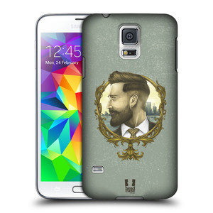 Plastové pouzdro na mobil Samsung Galaxy S5 Neo HEAD CASE HIPSTER GENTLEMAN