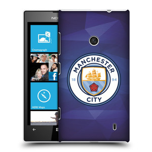 Plastové pouzdro na mobil Nokia Lumia 520 HEAD CASE Manchester City FC - Modré nové logo