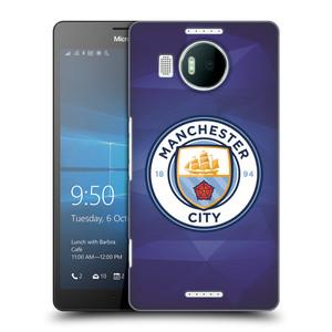 Plastové pouzdro na mobil Microsoft Lumia 950 XL HEAD CASE Manchester City FC - Modré nové logo