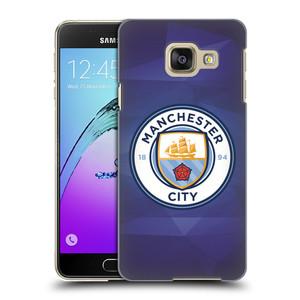 Plastové pouzdro na mobil Samsung Galaxy A3 (2016) HEAD CASE Manchester City FC - Modré nové logo