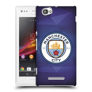 Plastové pouzdro na mobil Sony Xperia M C1905 HEAD CASE Manchester City FC - Modré nové logo