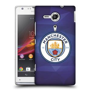Plastové pouzdro na mobil Sony Xperia SP C5303 HEAD CASE Manchester City FC - Modré nové logo