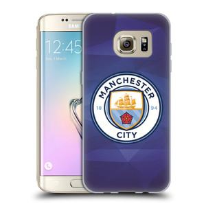 Silikonové pouzdro na mobil Samsung Galaxy S7 Edge HEAD CASE Manchester City FC - Modré nové logo