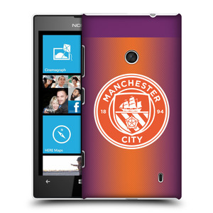 Plastové pouzdro na mobil Nokia Lumia 520 HEAD CASE Manchester City FC - Oranžové nové logo