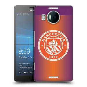 Plastové pouzdro na mobil Microsoft Lumia 950 XL HEAD CASE Manchester City FC - Oranžové nové logo