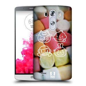Plastové pouzdro na mobil LG G3 HEAD CASE EMOJI LOVE