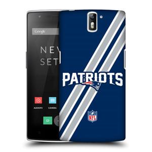 Plastové pouzdro na mobil OnePlus One HEAD CASE NFL - New England Patriots