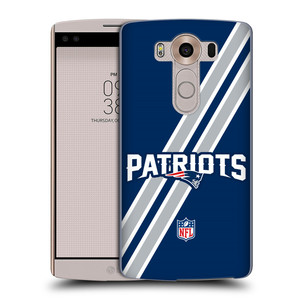 Plastové pouzdro na mobil LG V10 HEAD CASE NFL - New England Patriots