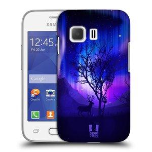 Plastové pouzdro na mobil Samsung Galaxy Young 2 HEAD CASE POLÁRNÍ ZÁŘE STROM