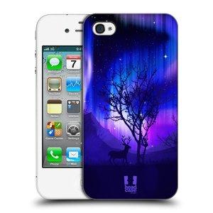 Plastové pouzdro na mobil Apple iPhone 4 a 4S HEAD CASE Polární Záře Strom