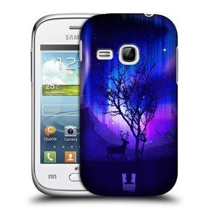 Plastové pouzdro na mobil Samsung Galaxy Young HEAD CASE Polární Záře Strom