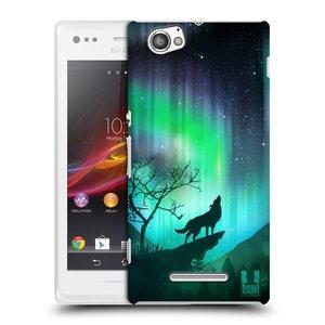 Plastové pouzdro na mobil Sony Xperia M C1905 HEAD CASE Polární Záře Vlk