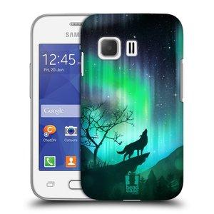 Plastové pouzdro na mobil Samsung Galaxy Young 2 HEAD CASE POLÁRNÍ ZÁŘE VLK