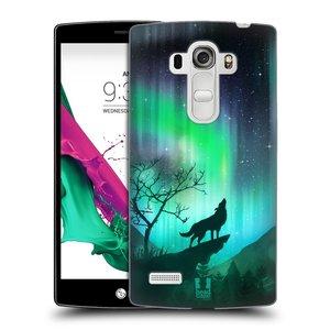 Plastové pouzdro na mobil LG G4s HEAD CASE POLÁRNÍ ZÁŘE VLK