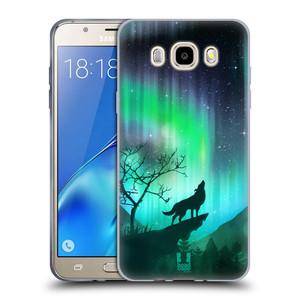Silikonové pouzdro na mobil Samsung Galaxy J5 (2016) HEAD CASE POLÁRNÍ ZÁŘE VLK