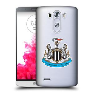 Plastové pouzdro na mobil LG G3 HEAD CASE Newcastle United FC - Čiré